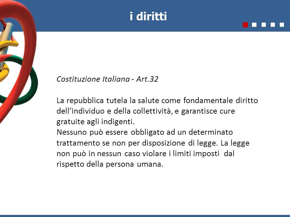 i diritti Costituzione Italiana - Art.32