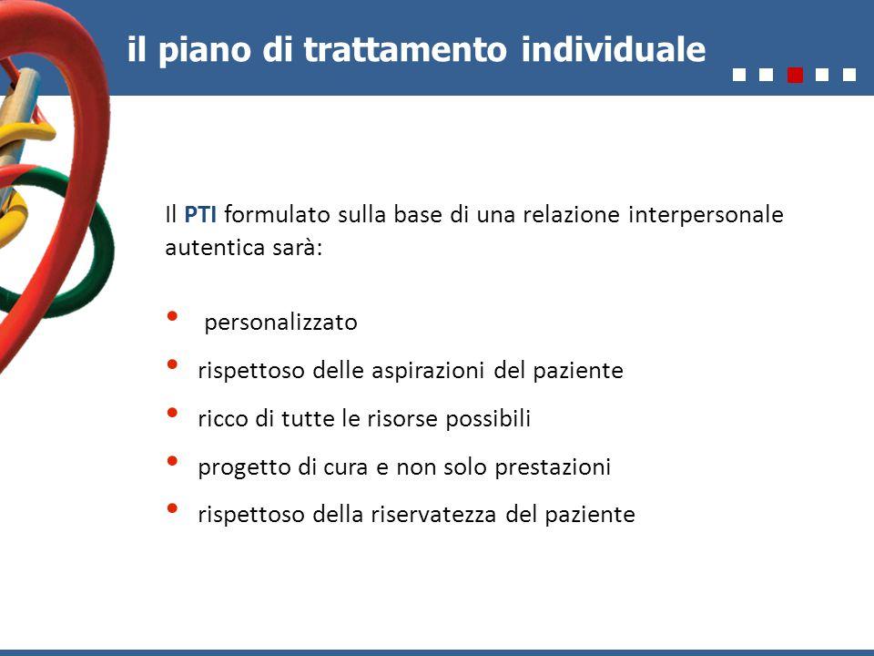 il piano di trattamento individuale