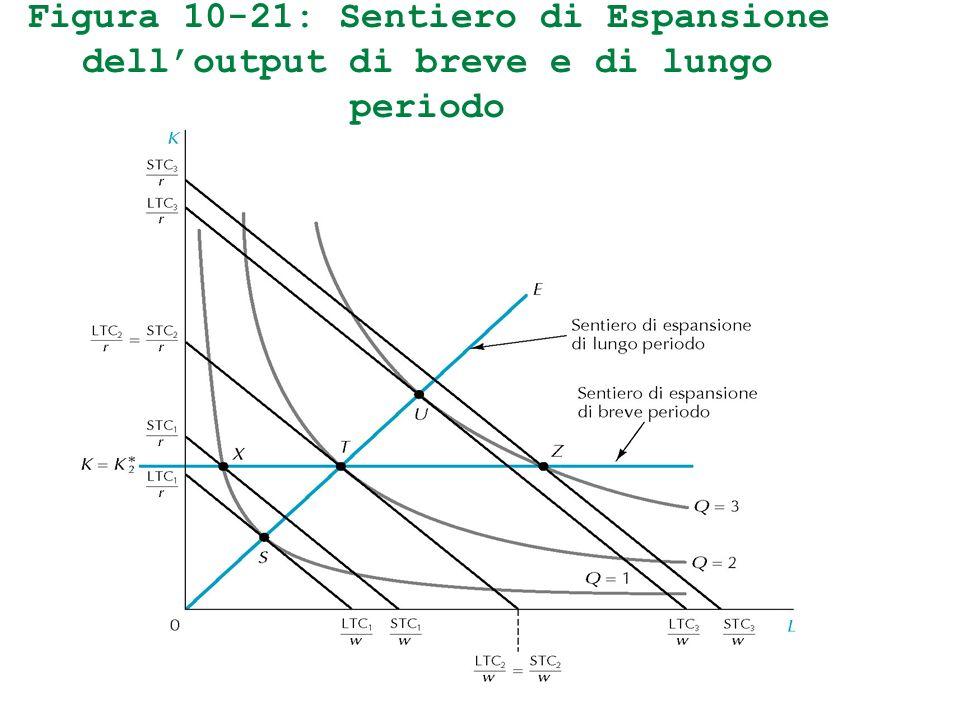 Figura 10-21: Sentiero di Espansione dell'output di breve e di lungo periodo
