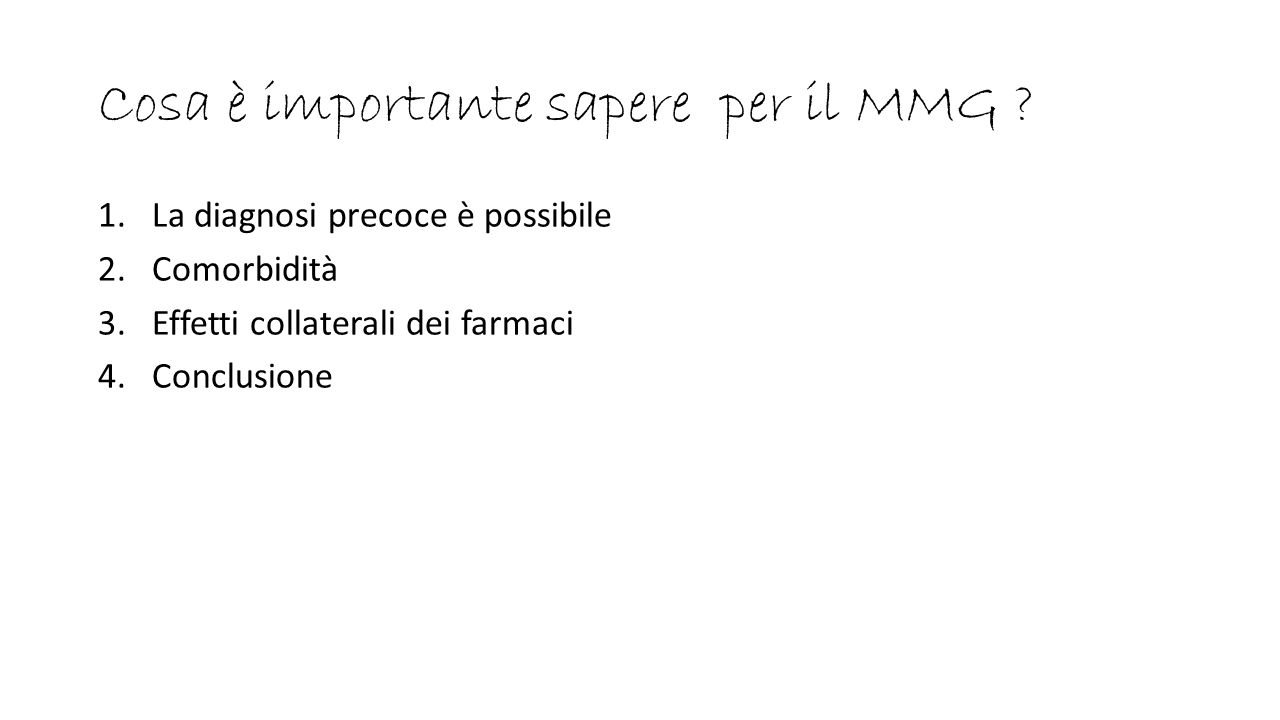 Cosa è importante sapere per il MMG