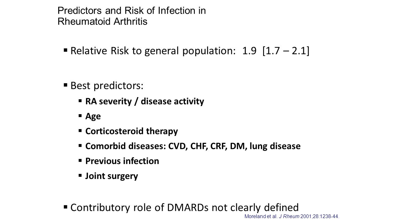 Predictors and Risk of Infection in Rheumatoid Arthritis