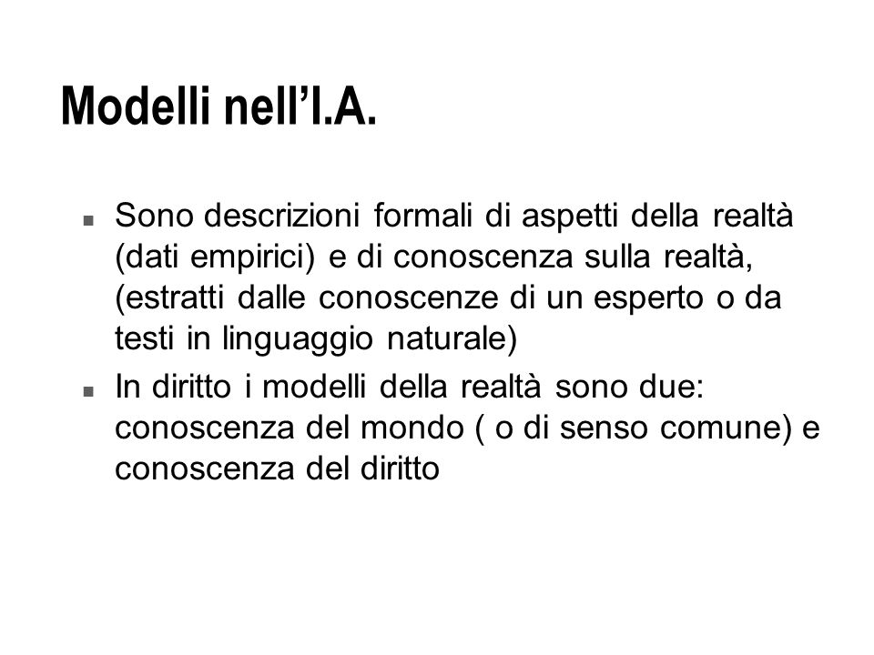 Modelli nell'I.A.