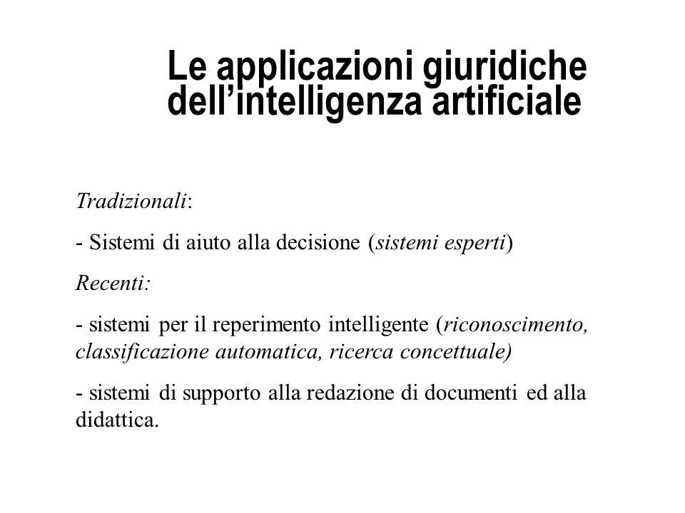 Le applicazioni giuridiche dell'intelligenza artificiale