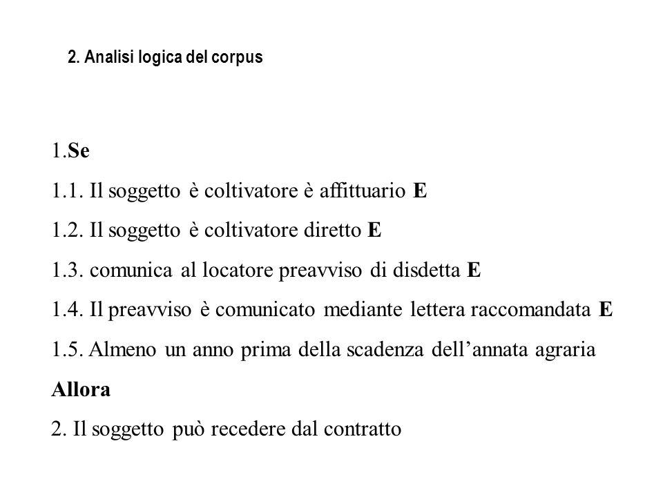 2. Analisi logica del corpus
