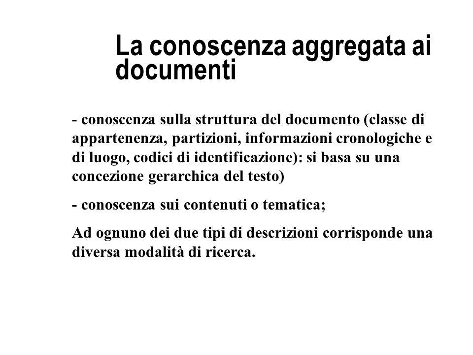 La conoscenza aggregata ai documenti