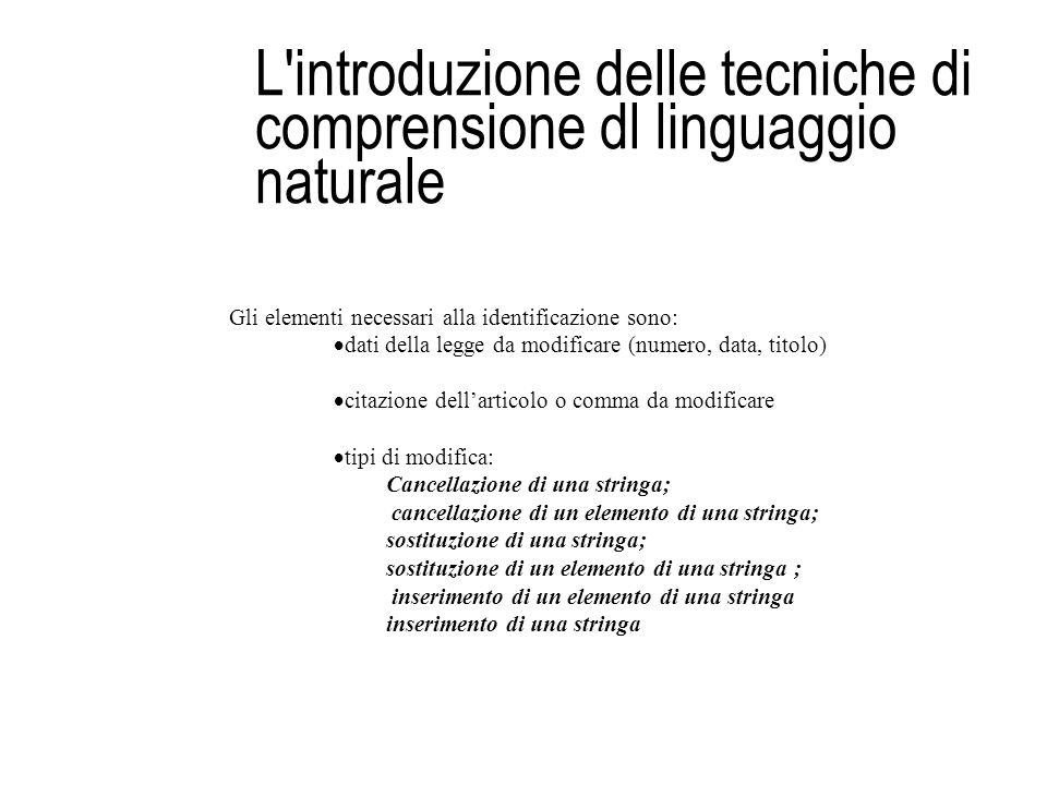 L introduzione delle tecniche di comprensione dl linguaggio naturale