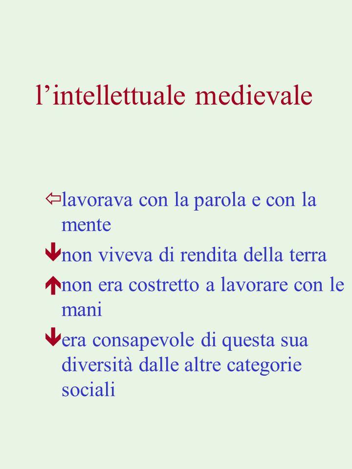 l'intellettuale medievale