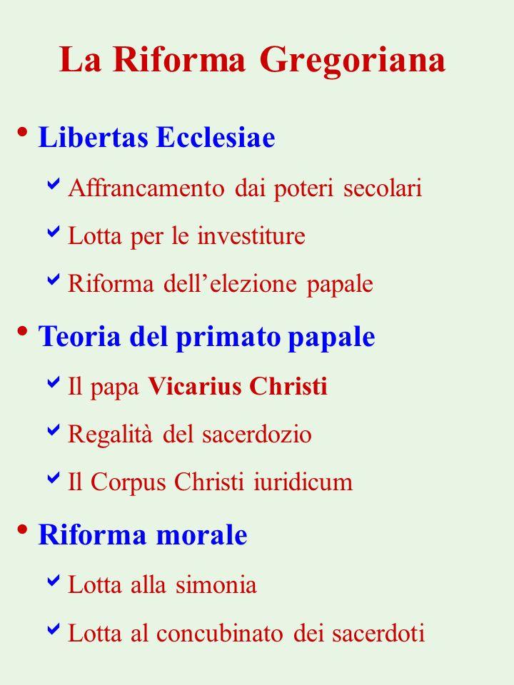 La Riforma Gregoriana Libertas Ecclesiae Teoria del primato papale