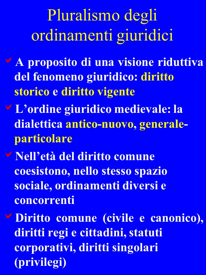Pluralismo degli ordinamenti giuridici