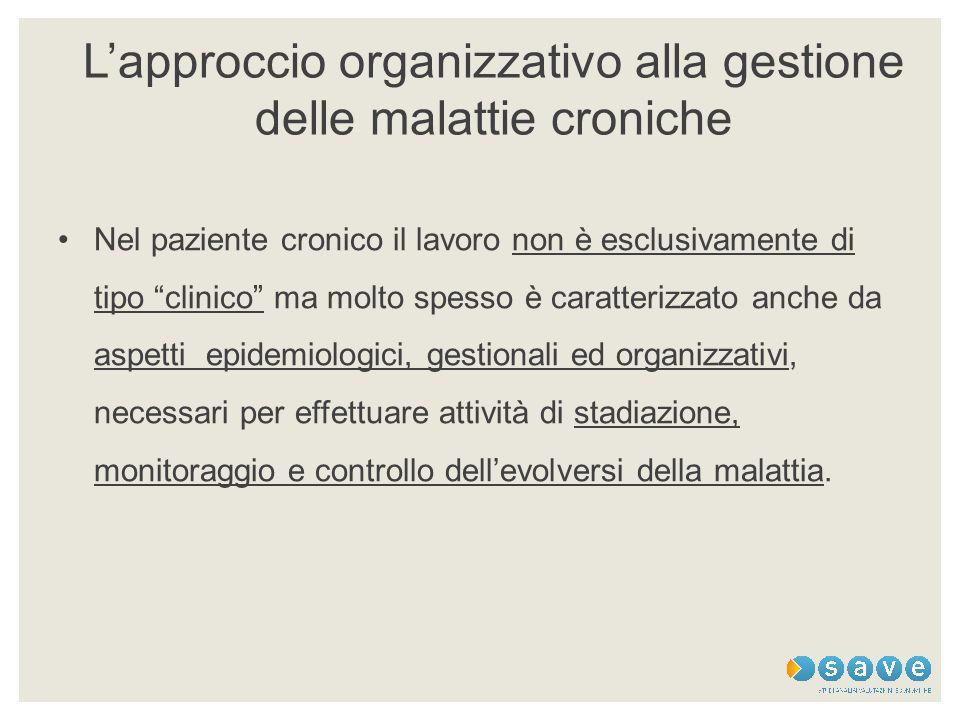 L'approccio organizzativo alla gestione delle malattie croniche