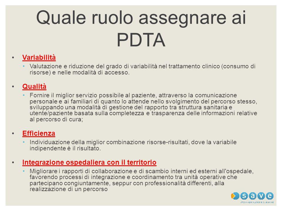 Quale ruolo assegnare ai PDTA