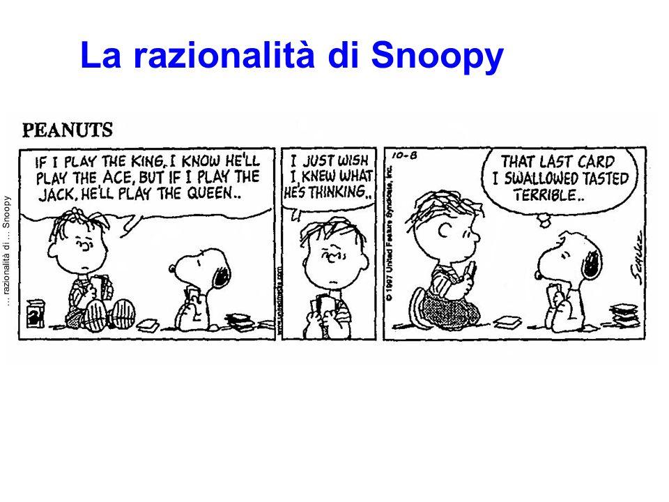 … razionalità di … Snoopy