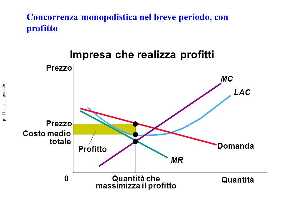 Impresa che realizza profitti massimizza il profitto