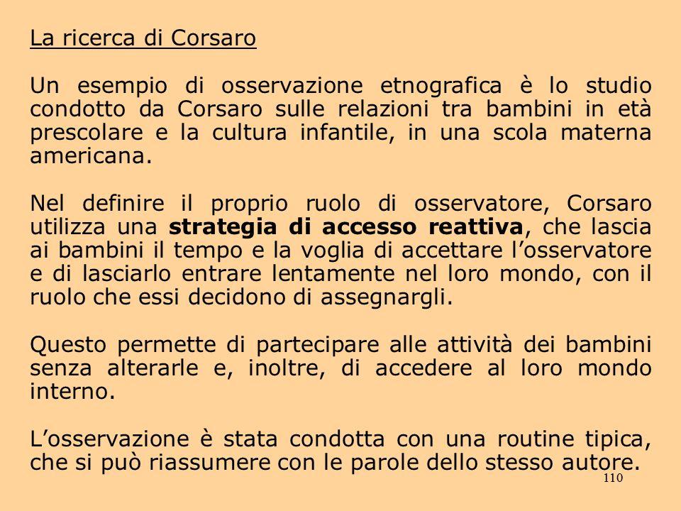 La ricerca di Corsaro