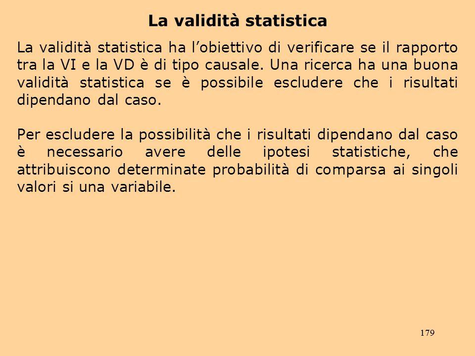 La validità statistica