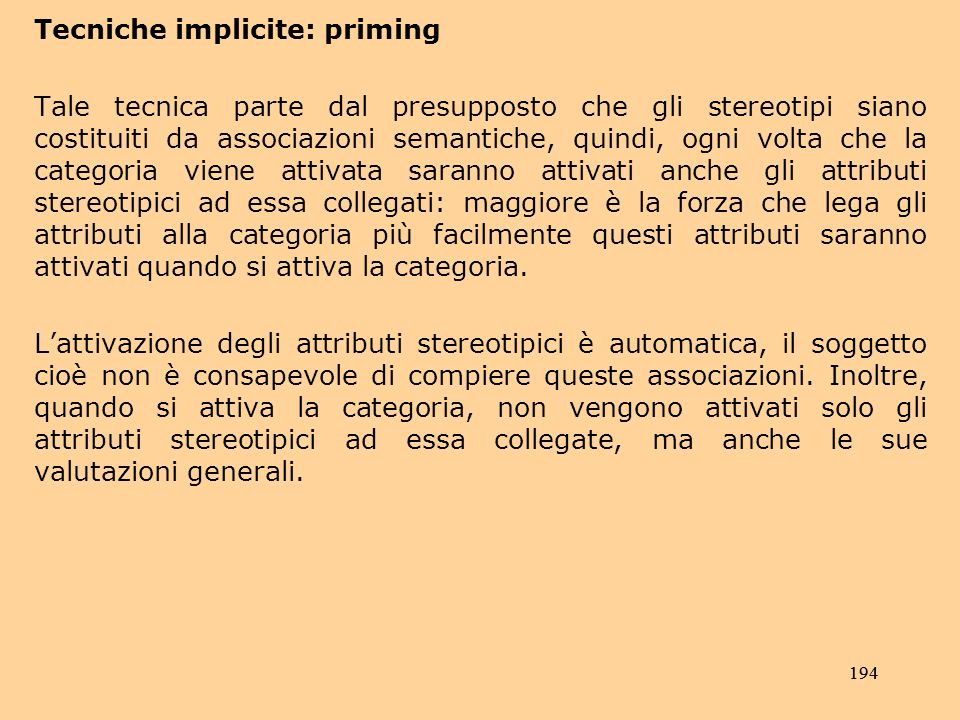 Tecniche implicite: priming