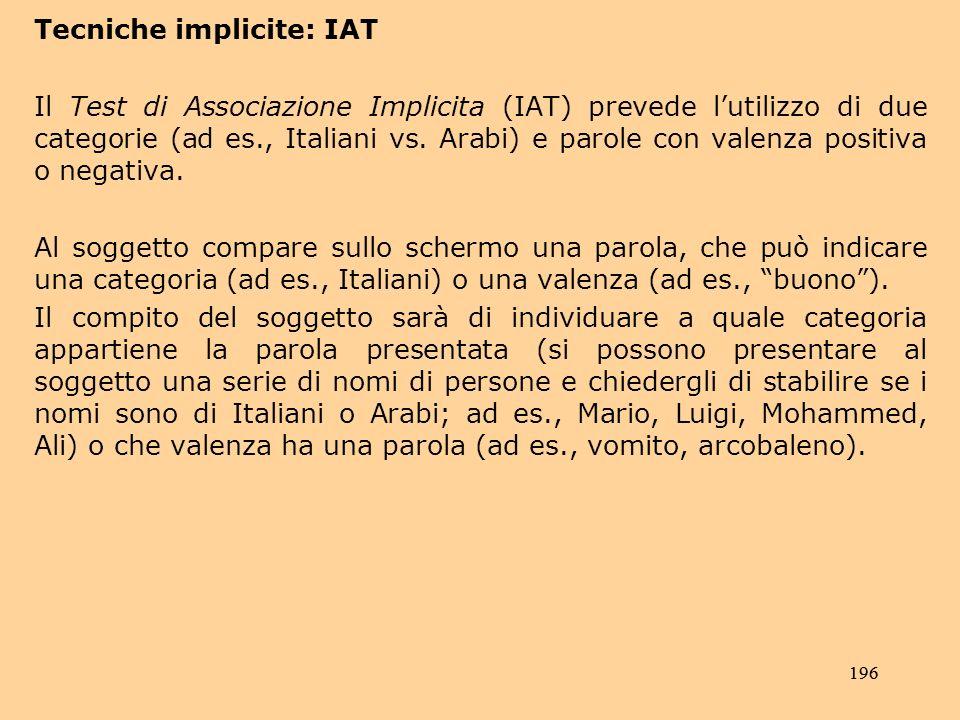 Tecniche implicite: IAT