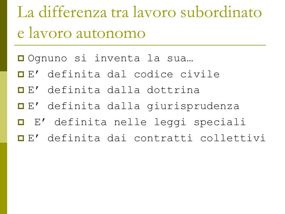 La differenza tra lavoro subordinato e lavoro autonomo