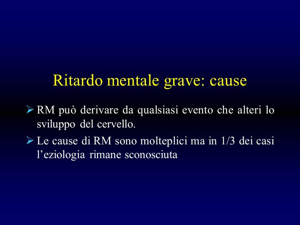 Ritardo mentale grave: cause