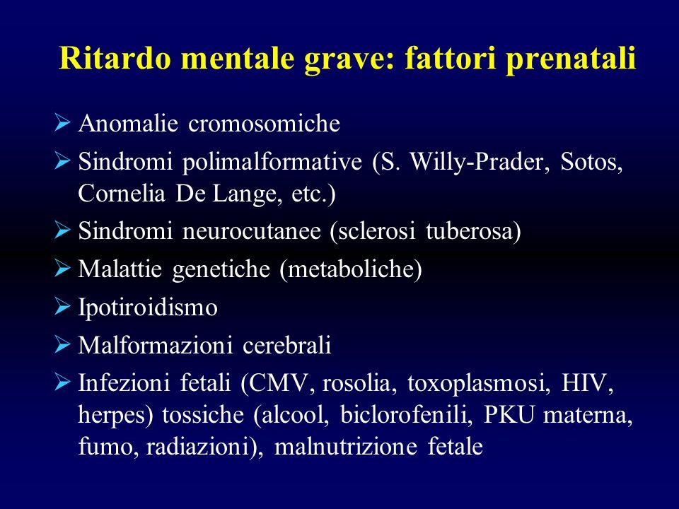 Ritardo mentale grave: fattori prenatali