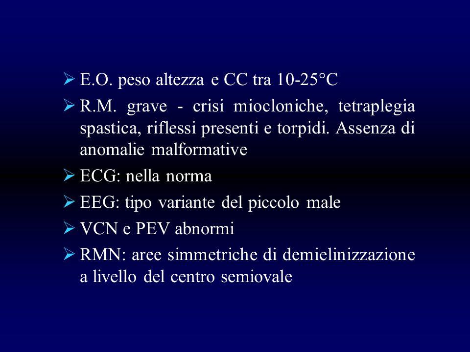 E.O. peso altezza e CC tra 10-25°C