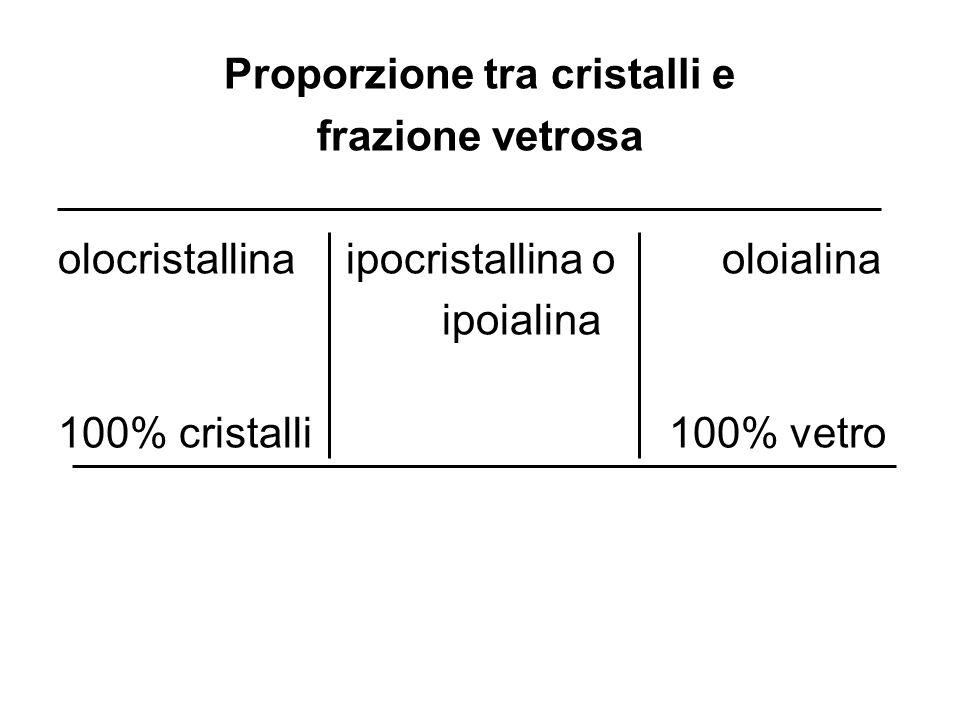 Proporzione tra cristalli e