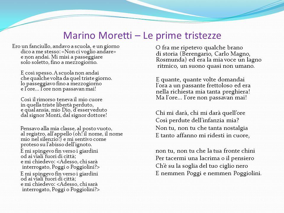 Marino Moretti – Le prime tristezze