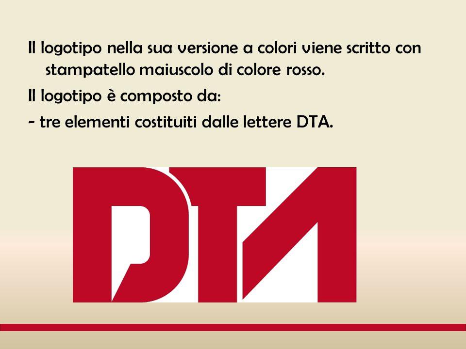 Il logotipo nella sua versione a colori viene scritto con stampatello maiuscolo di colore rosso.