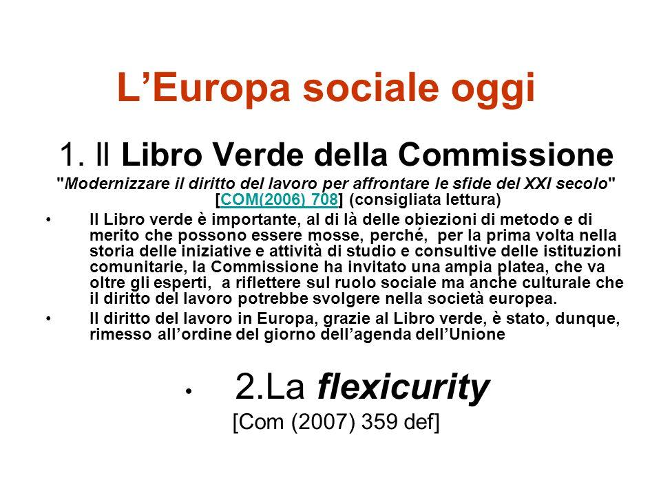 1. Il Libro Verde della Commissione