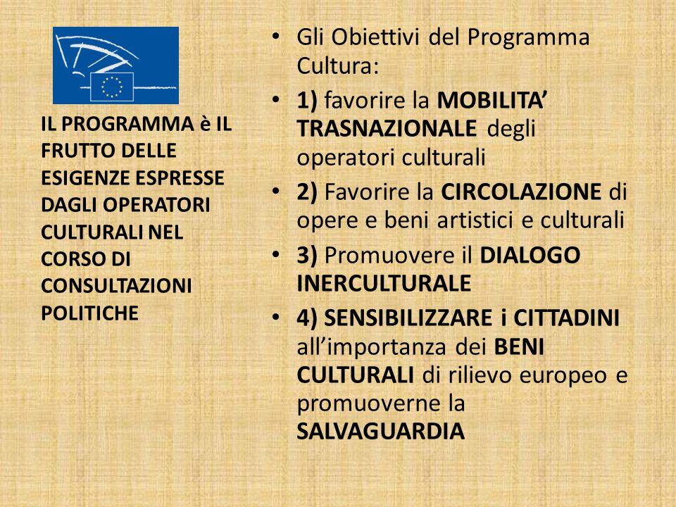 Gli Obiettivi del Programma Cultura: