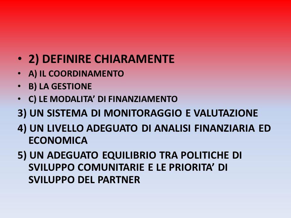 2) DEFINIRE CHIARAMENTE