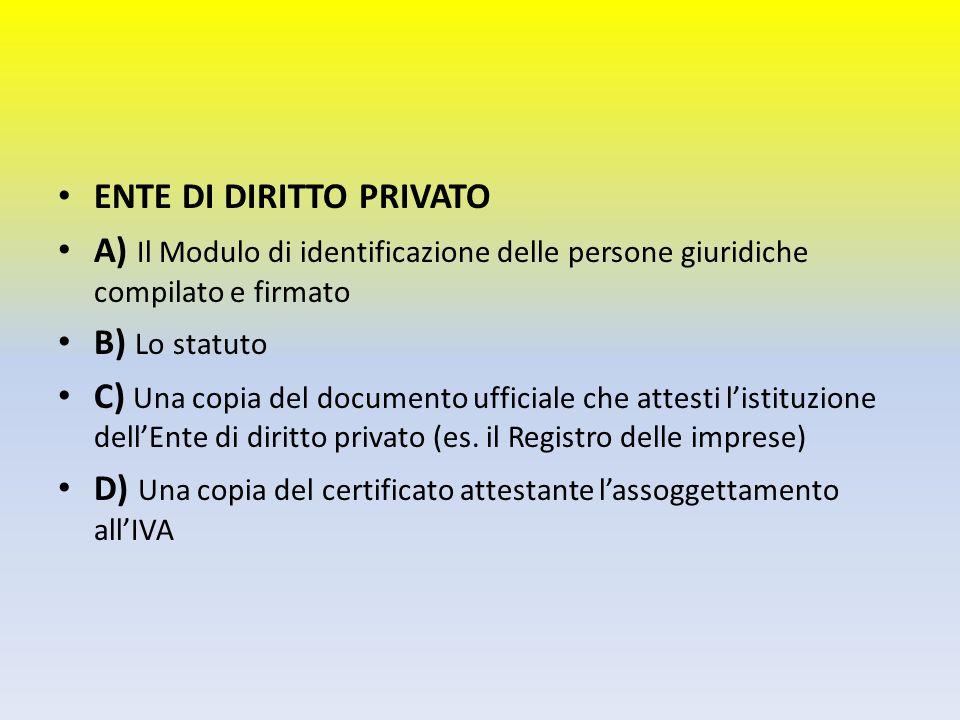ENTE DI DIRITTO PRIVATO
