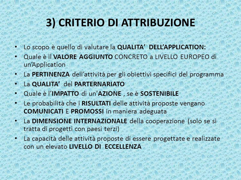 3) CRITERIO DI ATTRIBUZIONE