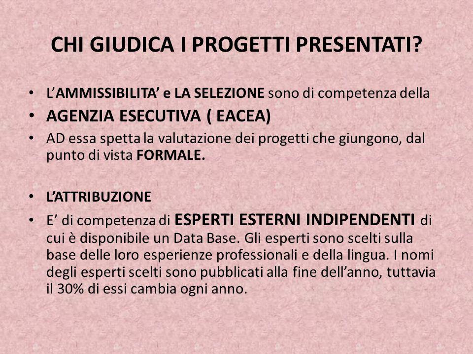 CHI GIUDICA I PROGETTI PRESENTATI