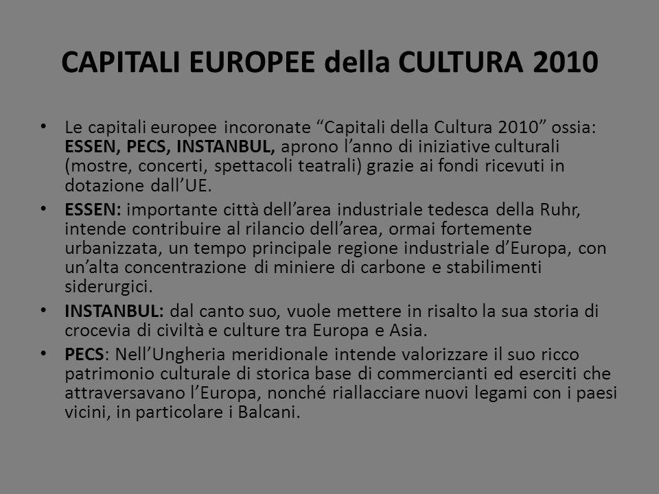 CAPITALI EUROPEE della CULTURA 2010