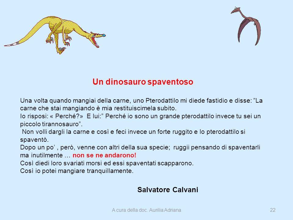 Un dinosauro spaventoso
