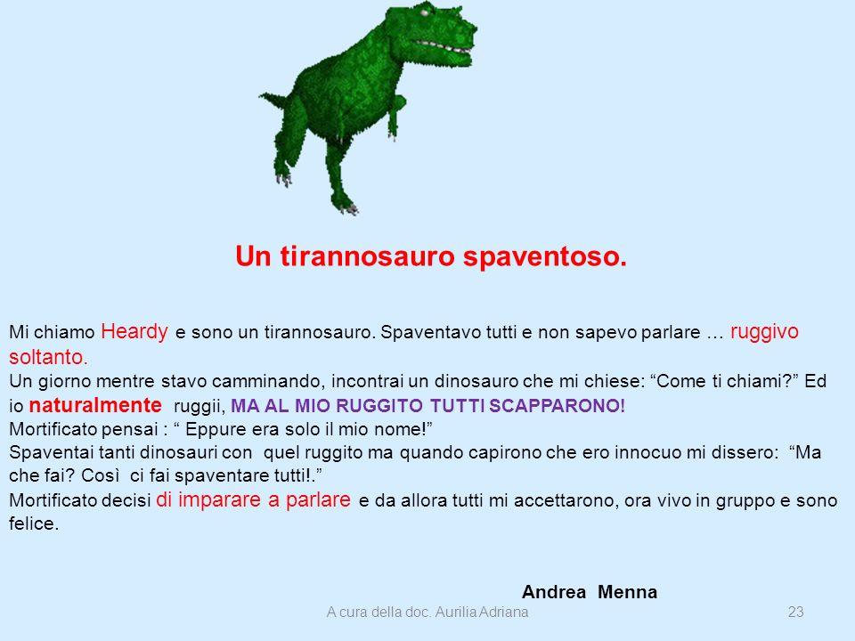Un tirannosauro spaventoso.