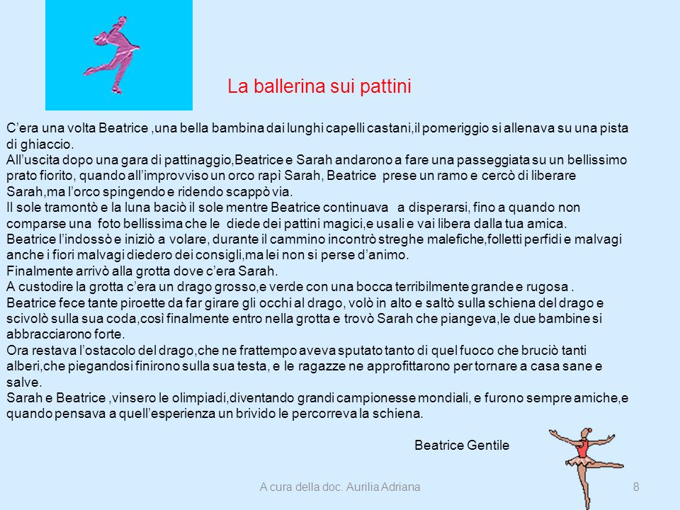 La ballerina sui pattini