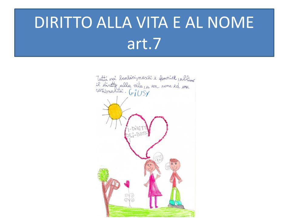 DIRITTO ALLA VITA E AL NOME art.7