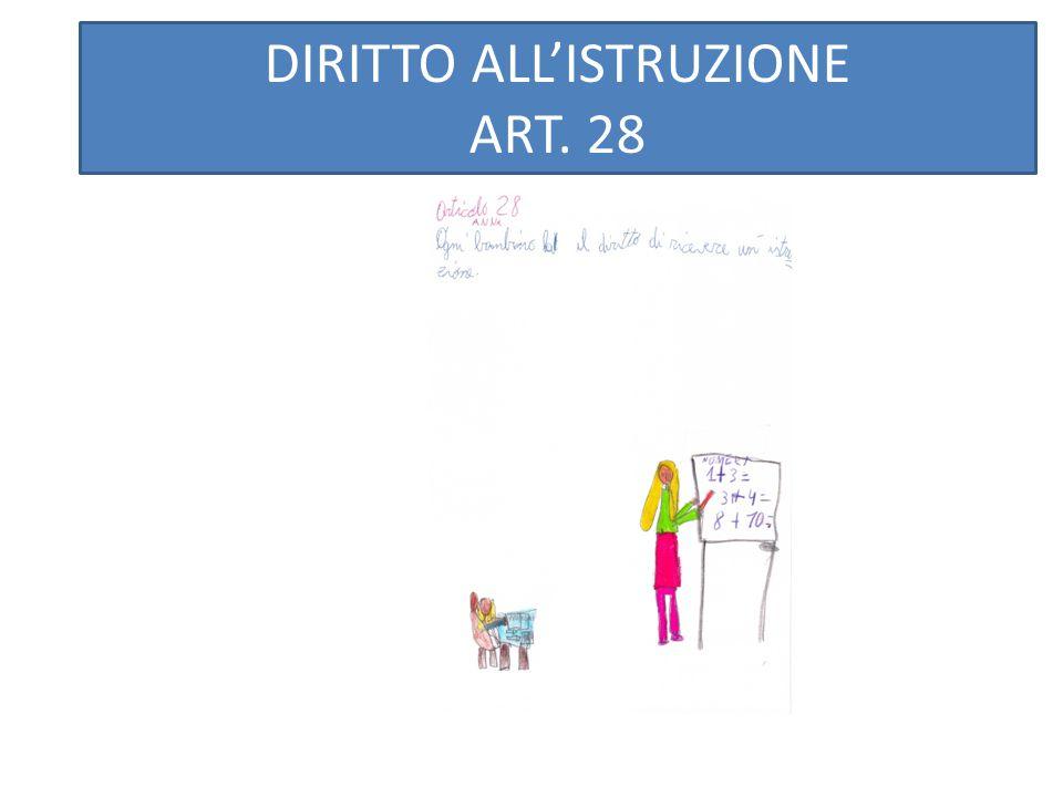 DIRITTO ALL'ISTRUZIONE ART. 28 ART.28