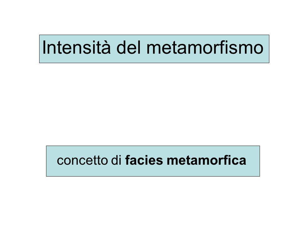 Intensità del metamorfismo