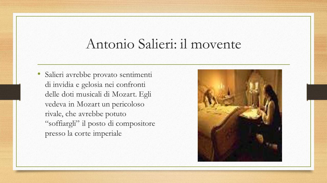 Antonio Salieri: il movente