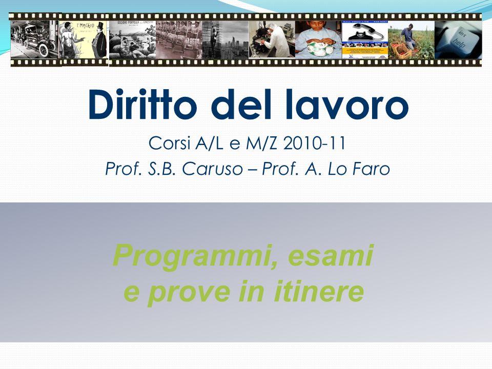 Prof. S.B. Caruso – Prof. A. Lo Faro