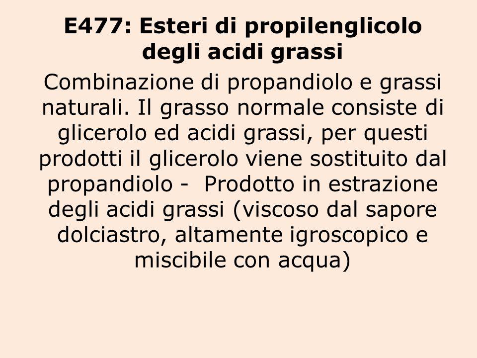 E477: Esteri di propilenglicolo degli acidi grassi