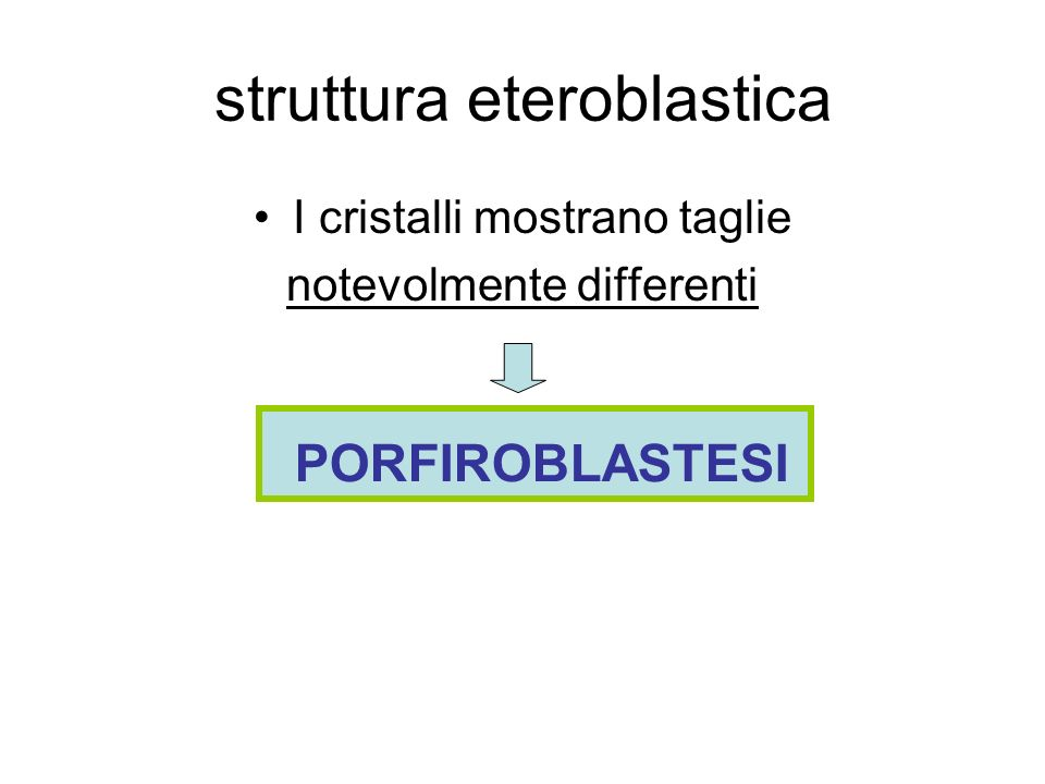 struttura eteroblastica