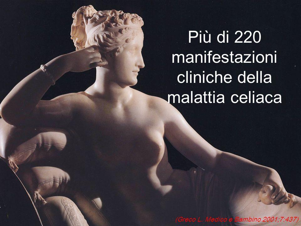 Più di 220 manifestazioni cliniche della malattia celiaca
