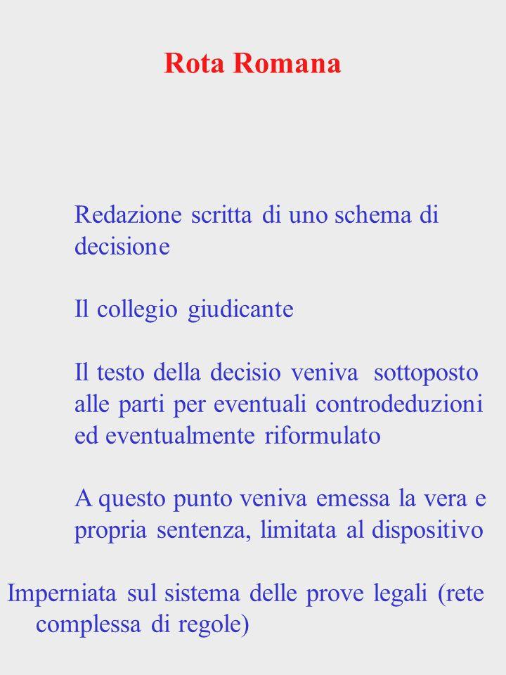 Rota Romana Redazione scritta di uno schema di decisione