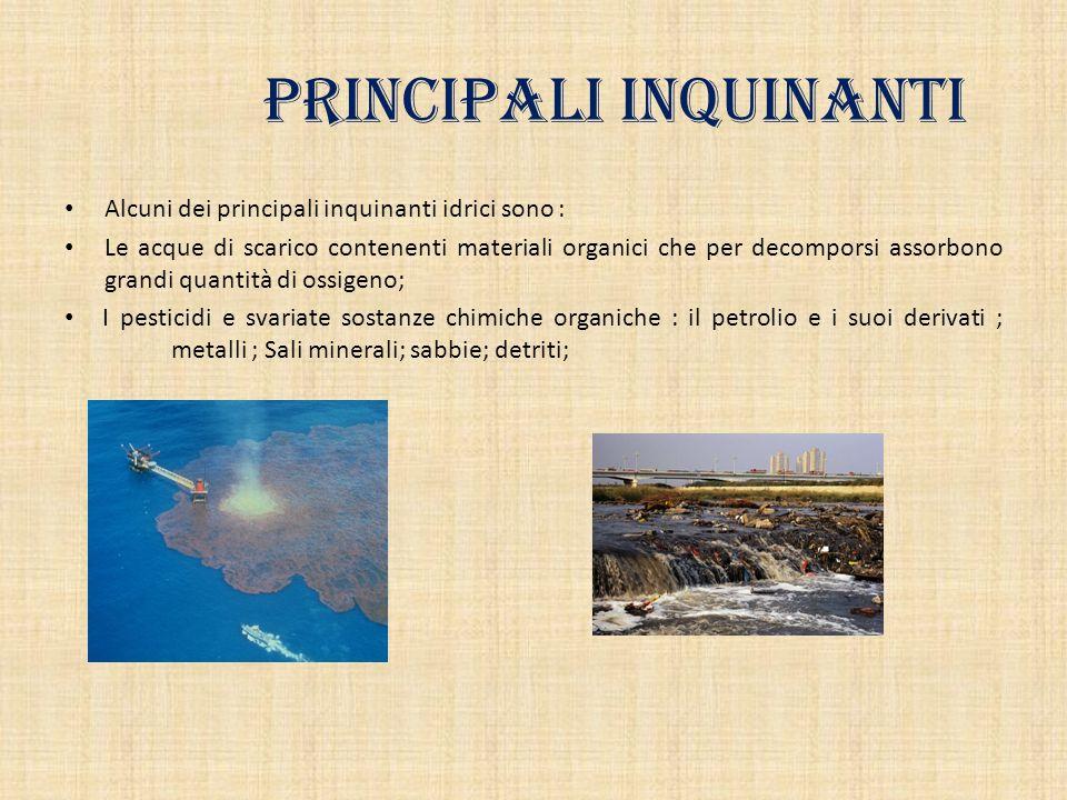 Principali inquinanti
