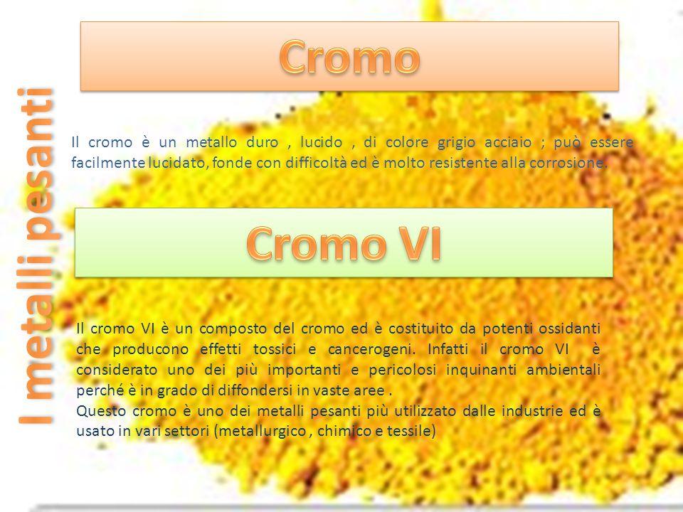 Cromo Cromo VI I metalli pesanti