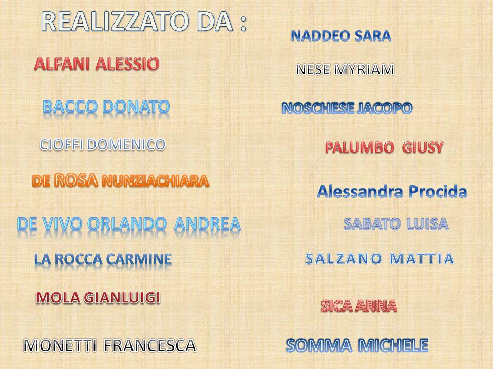 REALIZZATO DA : ALFANI ALESSIO BACCO DONATO Alessandra Procida